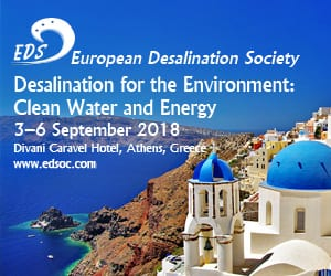 European Desalinization Society - Desalinization for the Environment 2018